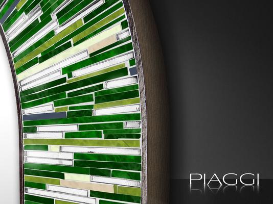Stadium green PIAGGI glass mosaic mirror image 2