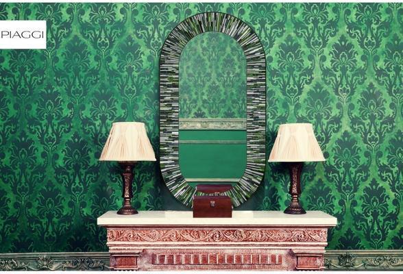 Stadium PIAGGI green glass mosaic mirror image 9