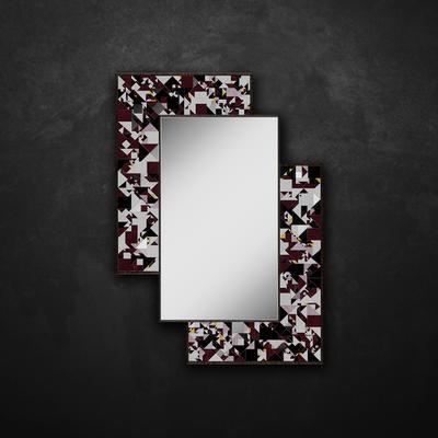 Kaleidoscope PIAGGI maroon glass mosaic mirror image 12