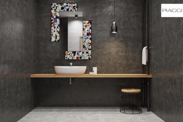 Kaleidoscope PIAGGI maroon glass mosaic mirror image 15