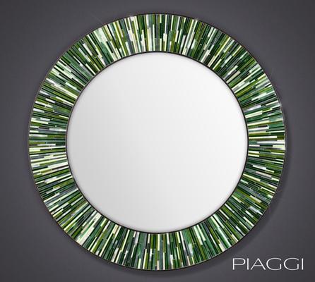Roulette green PIAGGI glass mosaic mirror