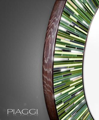 Roulette green PIAGGI glass mosaic mirror image 2
