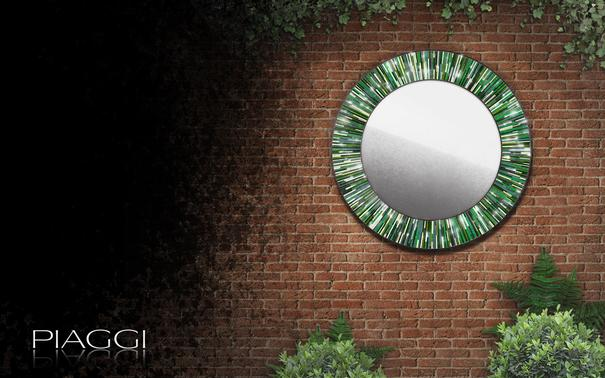 Roulette green PIAGGI glass mosaic mirror image 3