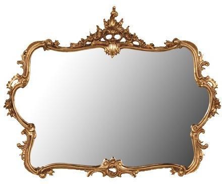 Large Gilt Mirror French Gilt Decoration
