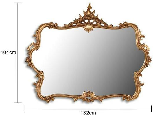 Large Gilt Mirror French Gilt Decoration image 2