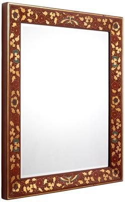 Shanxi Painted Mirror, Red Lacquer
