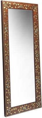 Shanxi Painted Dressing Mirror, Red Lacquer