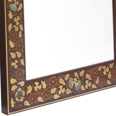 Shanxi Painted Dressing Mirror, Red Lacquer image 2