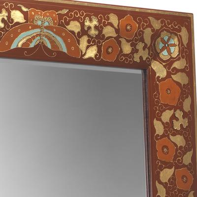 Shanxi Painted Dressing Mirror, Red Lacquer image 3