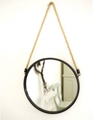 Round Ships Mirror With Rope