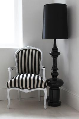 Black lacquered lamp