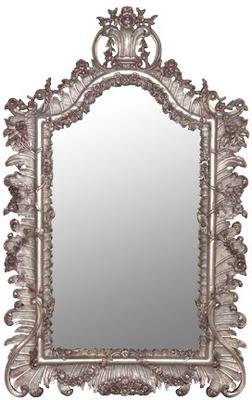 Antique Gold Mirror with Leaf Pattern