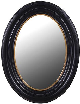 Oval Mirror - Black and Gold