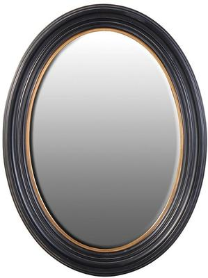 Oval Mirror - Black and Gold image 3