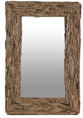 Driftwood Rectangular Mirror Large