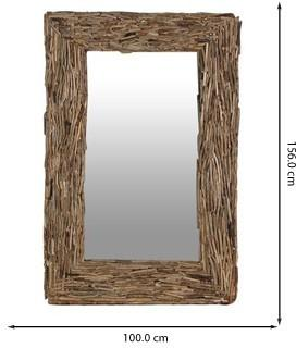Driftwood Rectangular Mirror Large image 2