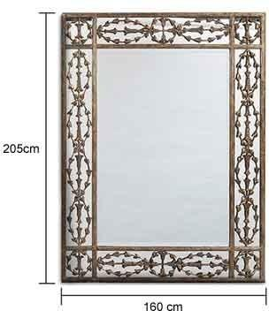 Ornate Rectangular Metal Frame Mirror image 2