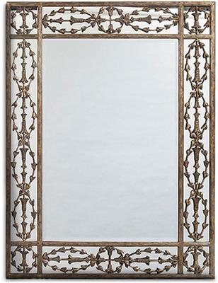 Ornate Rectangular Metal Frame Mirror