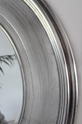Shimmering Silver Round Mirror image 3