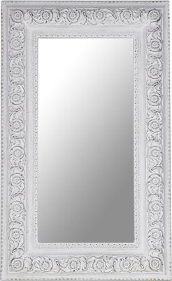 Large Antique White Rectangular Mirror