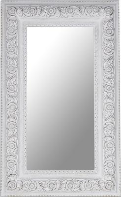 Large Antique White Rectangular Mirror