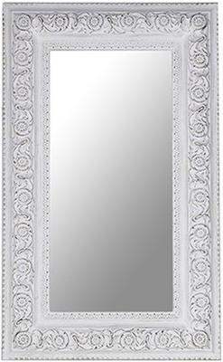 Large Antique White Rectangular Mirror image 2