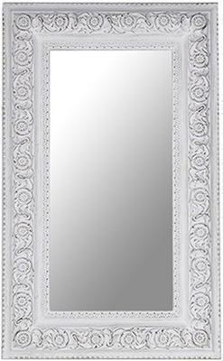 Large Antique White Rectangular Mirror image 2