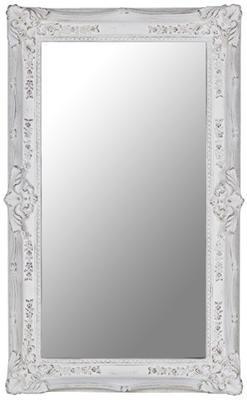 Rectangular White Ornate Mirror image 2