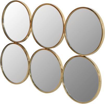 Six Circle Gold Wall Mirror