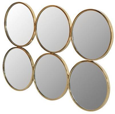 Six Circle Gold Wall Mirror image 2