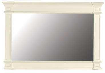 Classic Overmantle Mirror Slightly Distressed Painted Finish