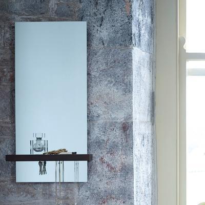 Gerrit Portrait Mirror with Walnut Shelf image 2