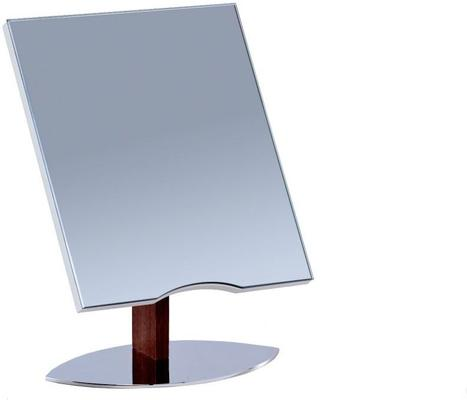 Lux Table Top Adjustable Mirror Walnut and Steel