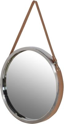 Round Mirror With Leather Strap image 2
