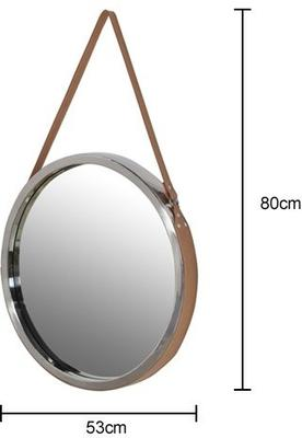 Round Mirror With Leather Strap image 3