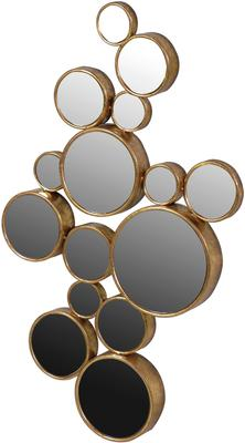 Multi-Circles Wall Mirror in Gold