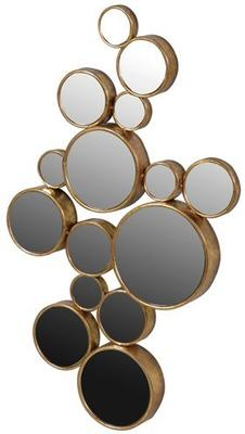Multi-Circles Wall Mirror in Gold image 2