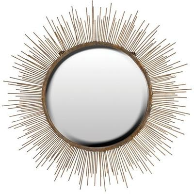 Large Sunburst Wall Mirror Contemporary Design image 2