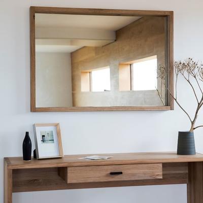 Kielder Simple Oak Rectangular Mirror image 5