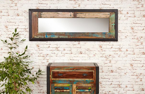 Shoreditch Rustic Wall Mirror - Large