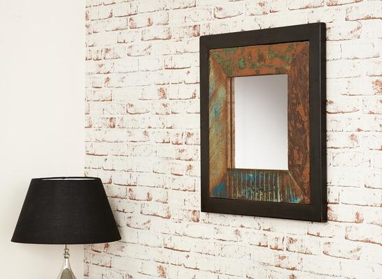 Shoreditch Wall Mirror Square Steel Frame image 3