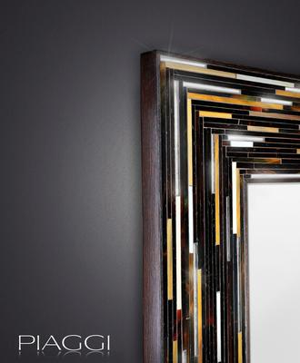 Big Q Dark Brown Glass Mosaic Modern Mirror image 3