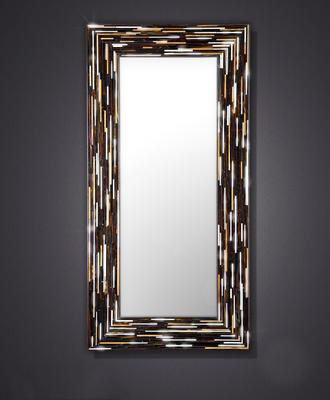 Big Q Dark Brown Glass Mosaic Modern Mirror