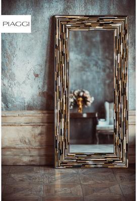 Big Q Dark Brown Glass Mosaic Modern Mirror image 18