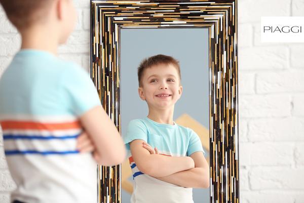 Big Q Dark Brown Glass Mosaic Modern Mirror image 23