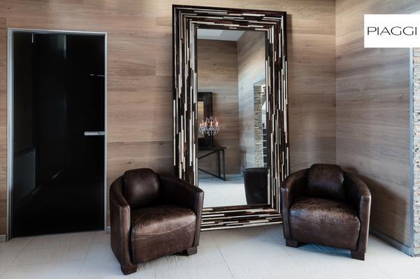 Big Q Dark Brown Glass Mosaic Modern Mirror image 25