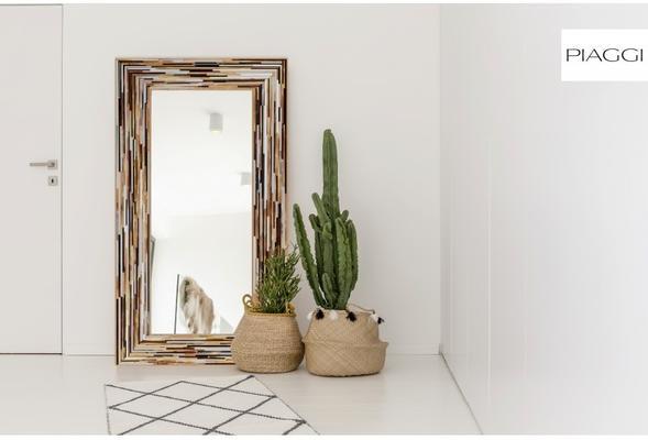 Big Q Light Brown Modern Glass Mosaic Mirror image 16