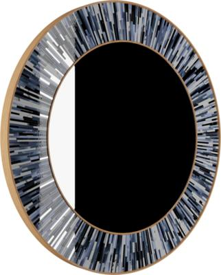 Roulette grey PIAGGI glass mosaic mirror image 8