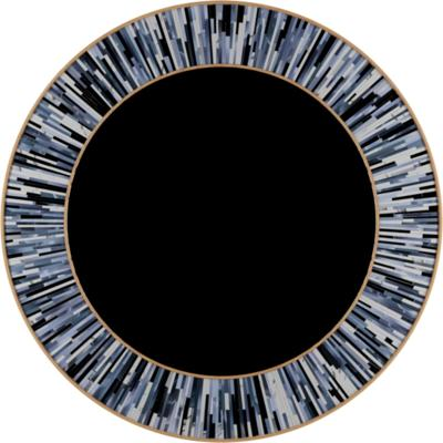 Roulette grey PIAGGI glass mosaic mirror image 9