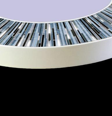 Roulette PIAGGI grey glass mosaic round mirror image 7